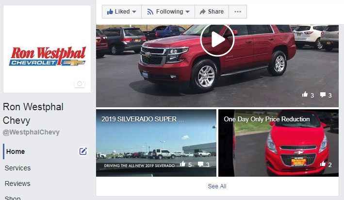 ron westphal chevrolet facebook