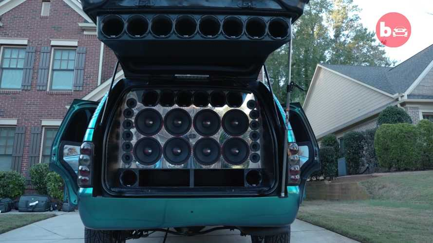 Chevy Tahoe With 62 Speakers