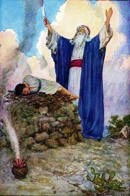 Abraham and Isaac on Mount Moriah