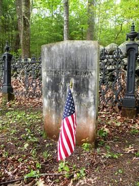 samuel targox gravesite with flag