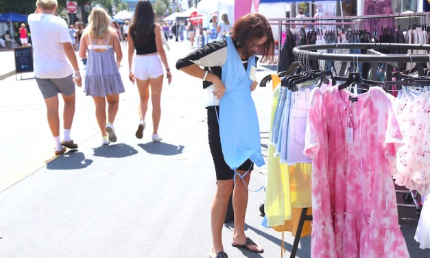 Sunny Day at the Sidewalk Sale