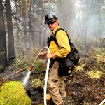 Westport Deputy Fire Chief at Frontline Fighting Wildfires Raging Out West