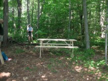 West River Trail picnic table