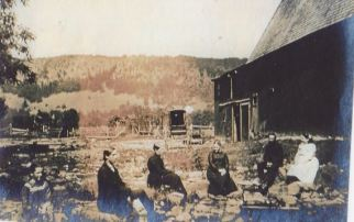 Clair Bond and friends 1908- view from Lawrence Road
