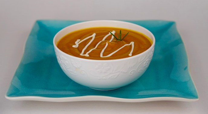 Yam and Carrot Soup