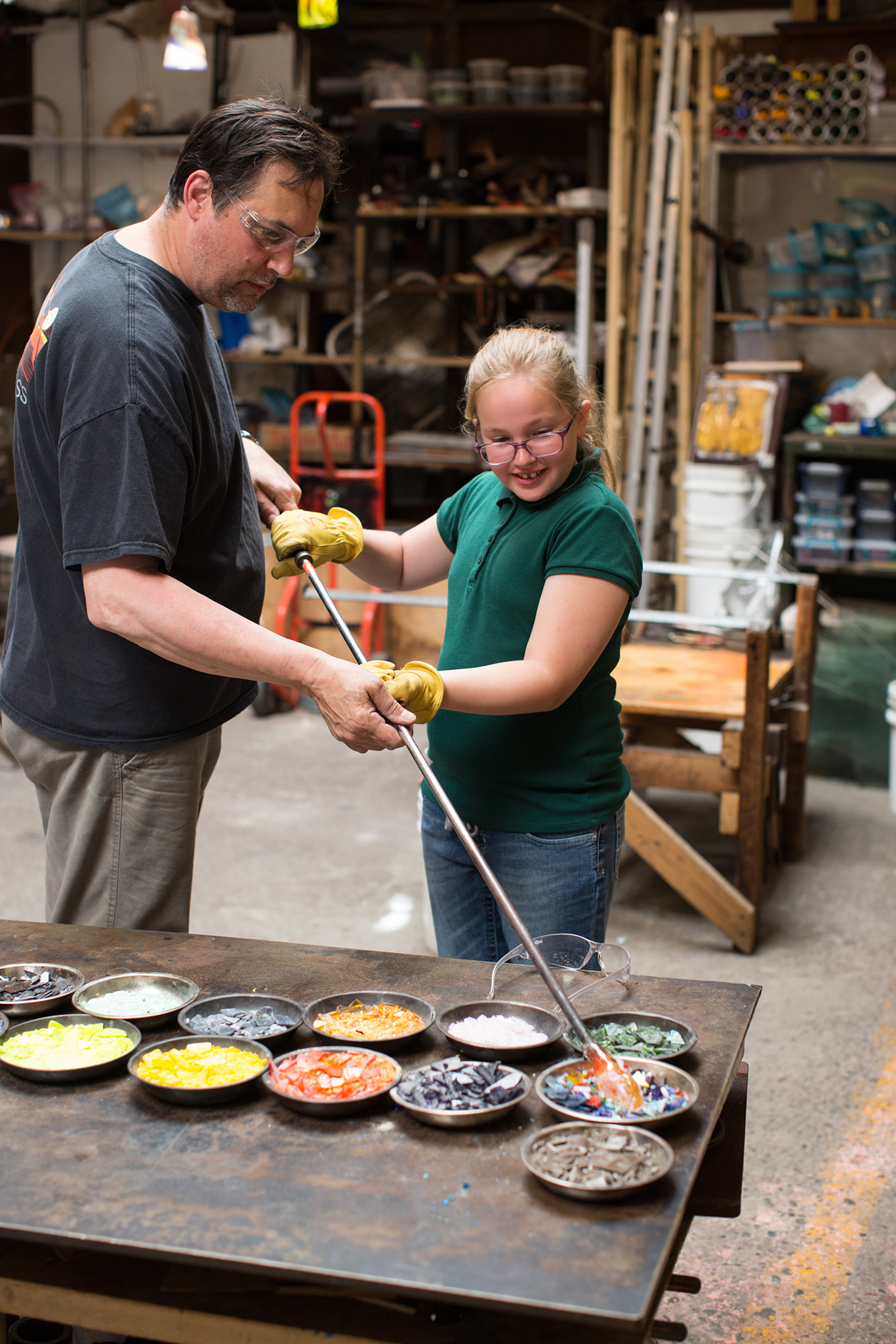 Fourth Grade Field Trip to a Glass Blowing Company