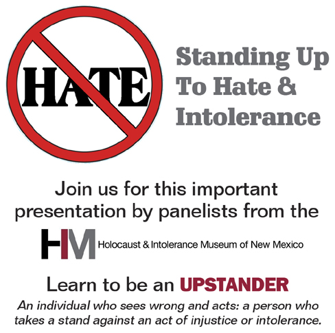 July 24 Program on Hate and Intolerance