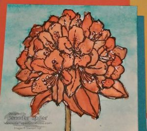 Up Close Of Watercolored Flower from Best Thoughts Stamp Set