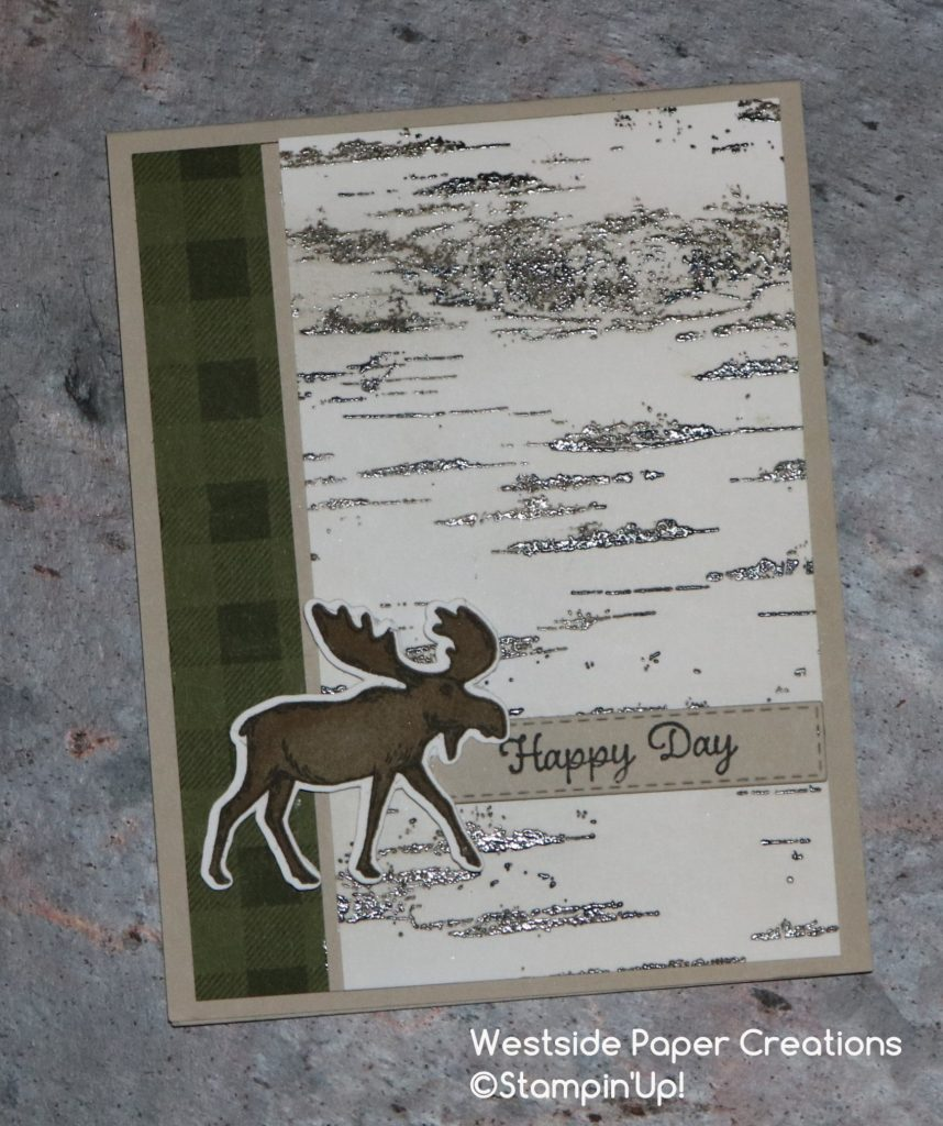 Birthday card using the Merry Moose Stamp Set