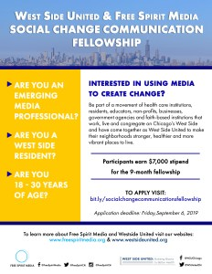 West Side United and Free Spirit Media launch Social Change Communication Fellowship for West Side Youth!