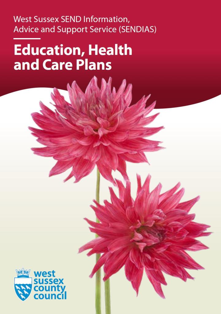 Picture of front cover of EHC Plans Leaflet