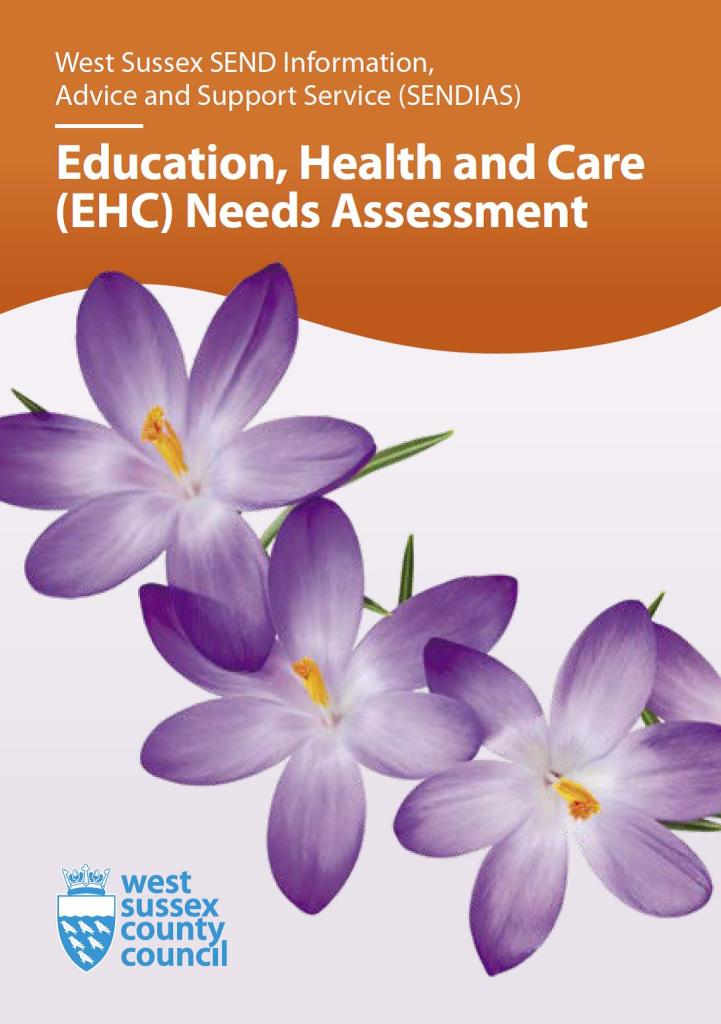 Picture of front cover of SENDIAS EHC Needs Assessment Leaflet