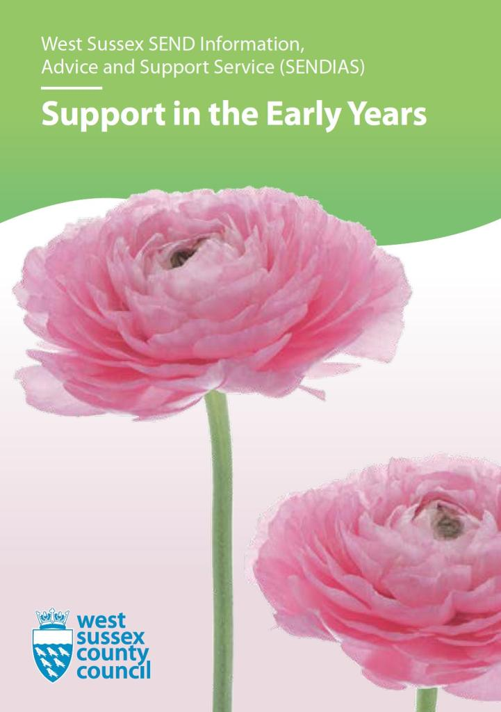 Picture of front cover of SENDIAS Support In Early Years leaflet