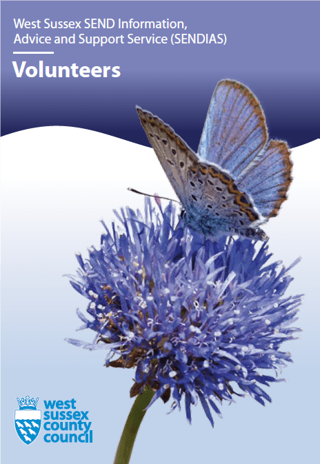 Picture of front cover of SENDIAS volunteers leaflet