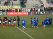Minis's had a ritual where they lined up before kick-off.