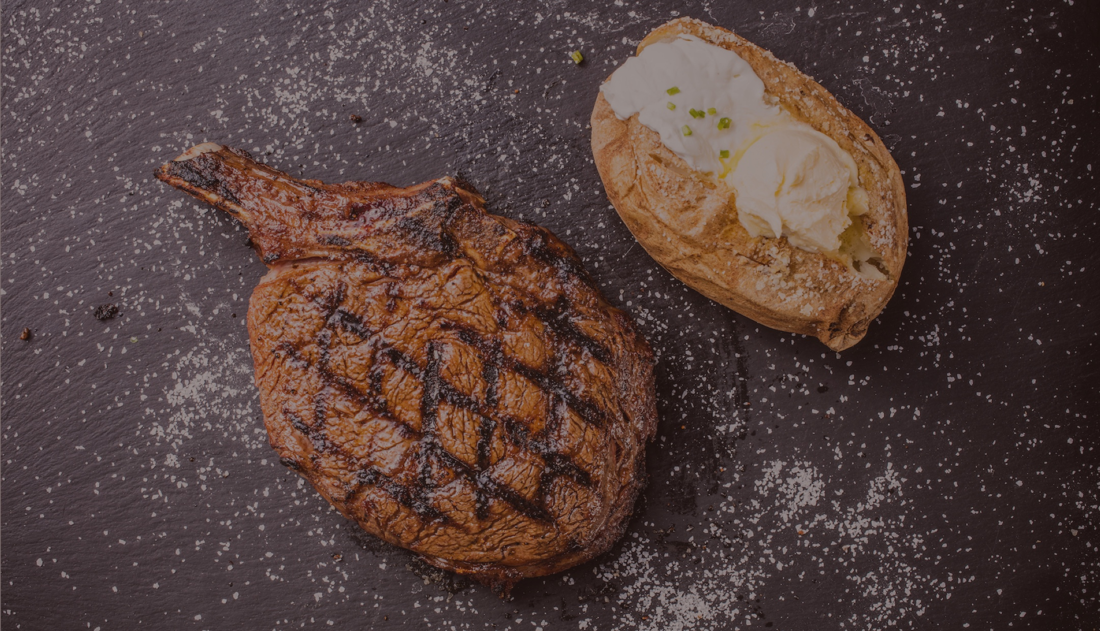 Bone-in Ribeye with Baked Potato