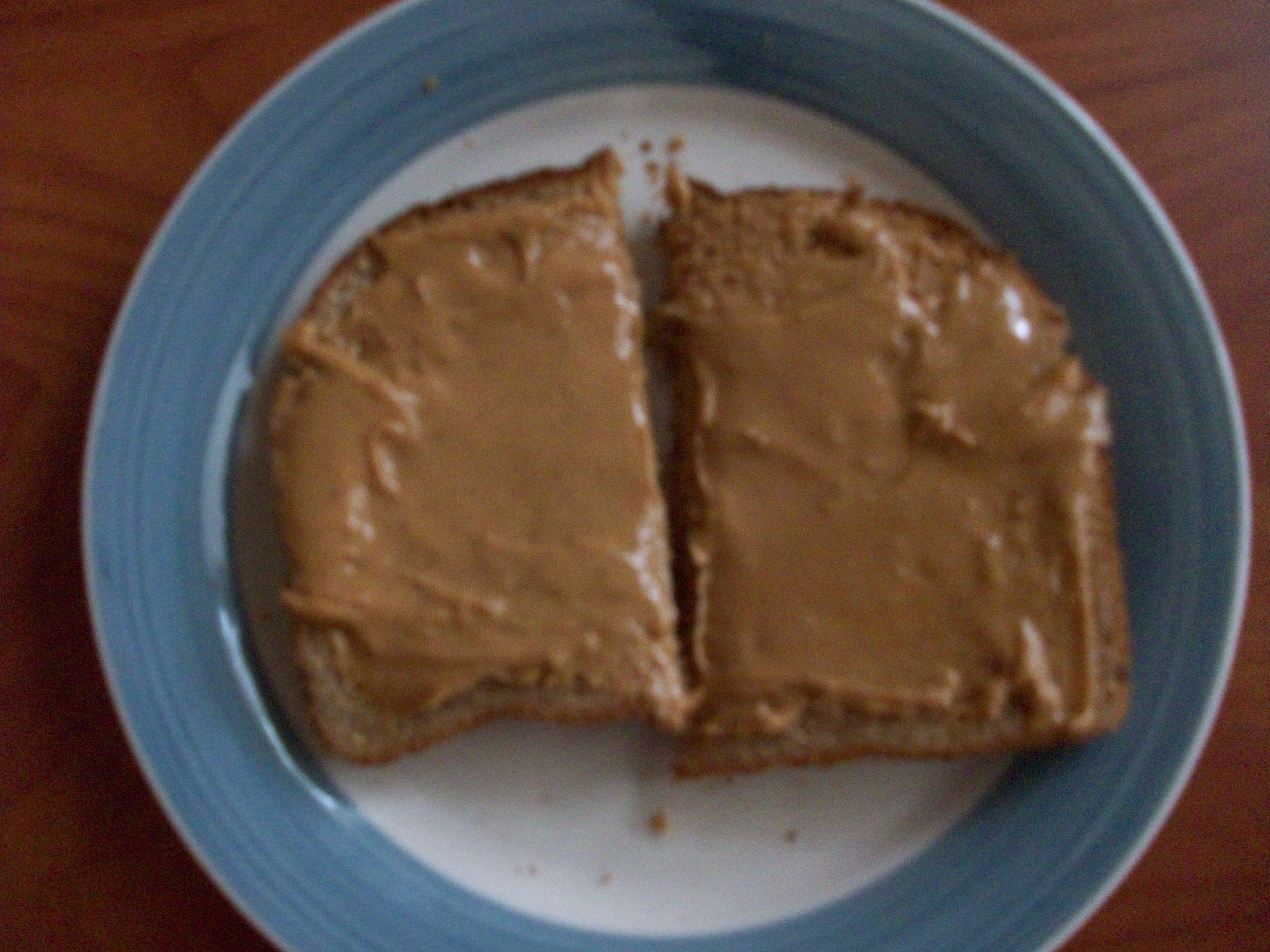 peanut butter toast. part one of breakfast yesterday
