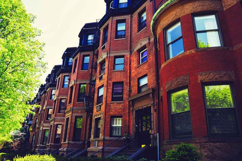 apartments architecture boston brick
