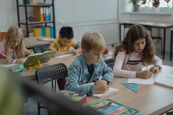people desk sitting school
