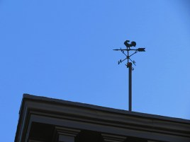 Perry and Bleecker streets - Weathervane on Roof
