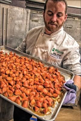 Tray of Carrots for Turkey Dinner