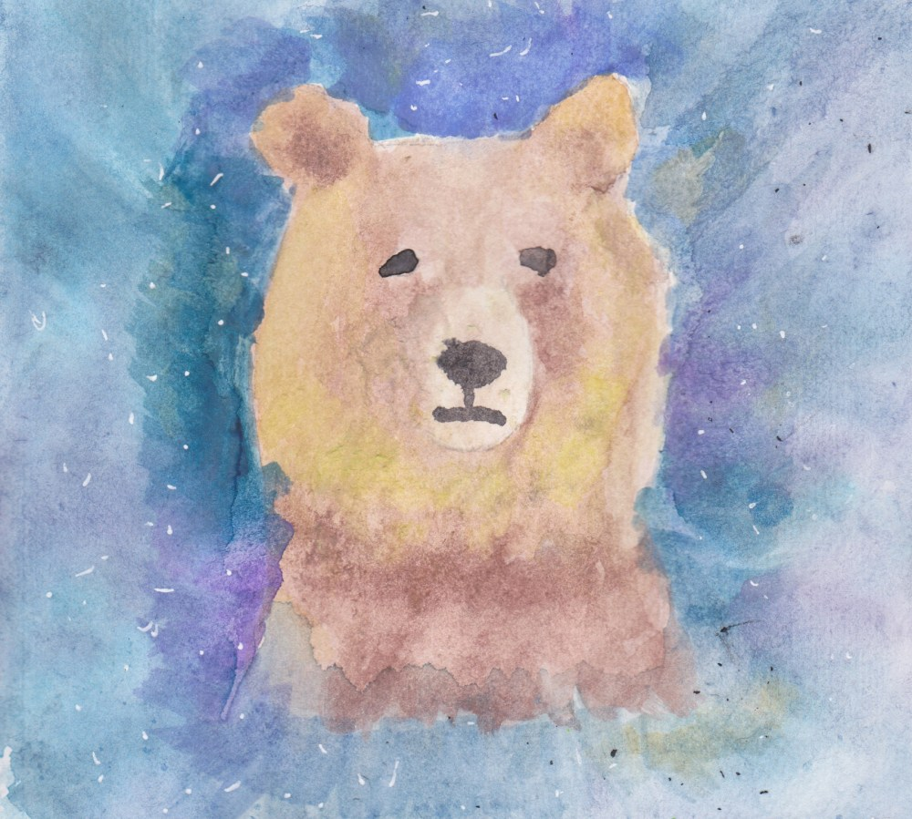 "Watercolor Painting ""Galactic Bear"""