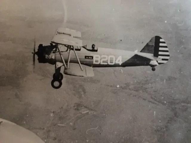 PT 17A plane in flight