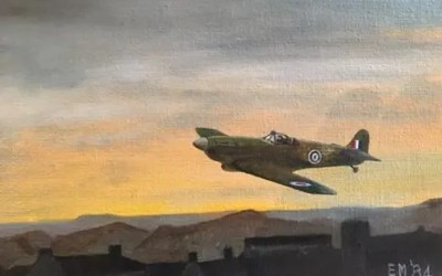 Spitfire over South Wales