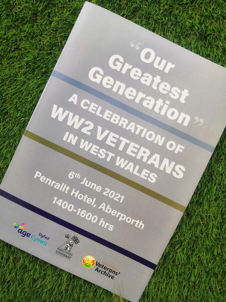 """Pamphlet advertising """"Our Greatest Generation,"""" an Age Cymru Dyfed event commemorating the 77th anniversary of D-Day. June 6th, 2021."""