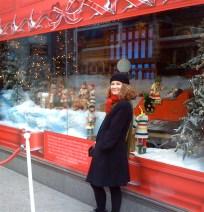 Skylar at Bay's Christmas window