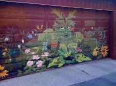 Father Nature? - rather amazing garage art on Croft Street.