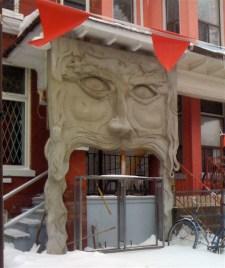 Kensington porch decor, adopted from former College Street bar (Veni, Vidi, Vici)