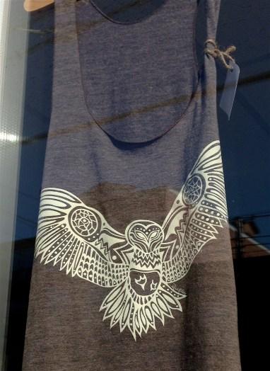 owl print tank top in neighbourhood Arts Market