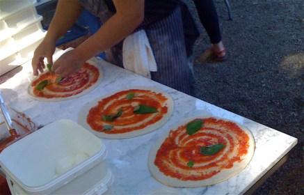 Pizzeria Libretto's signature marinara pizza