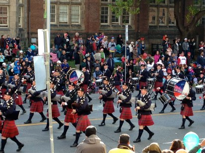 kilted Police pipe band