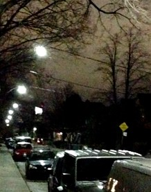Later that night, Aura all lit up, from a distance. I'll try for a better pic, sometime.