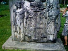 Amazing symbolic Bank of Toronto emblem. Not a great photo. Fascinating historical details.