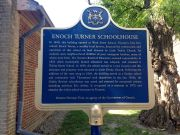 Enoch Turner Schoolhouse historical plaque