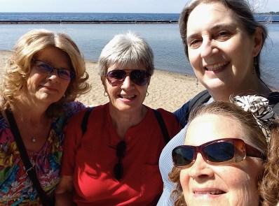 Jan, Sharon, Skylar and Lori reach the beach