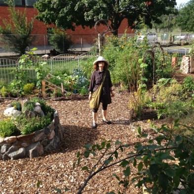 Skylar in the MacGregor Park veggie garden.
