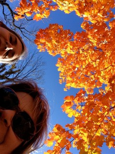 Julie and I find the best foliage of the day.