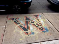 What's Victor Up To... an entire sidewalk alphabet. I just caught two of them...