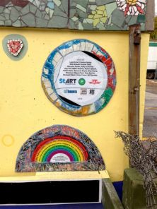 An interesting destination: the Coxwell Laneway Mosaic Mural - these list the participants.