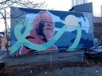 Love Letter to the Great Lakes... the Spadina area selection (there are three here): this is Kevin Ledo's David Suzuki mural, off Bulwer Street, a block north of Queen, east of Bathurst.