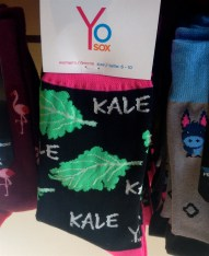 ... and found the perfect pair of sox for Skylar - our kale harvesting champion! :-) (Will you settle for a photo, Skylar?)