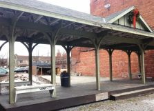 ... and one of the train stations' platforms, still used for markets, performances and more.