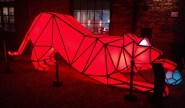 Distillery Light Fest - sweet light cat - one of the Digital Origami Tigers