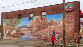 Veronika at Islington Village murals, John Kuna