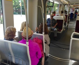 Jan, Laurie, Elizabeth, Skylar and Jorge. on the way to Corktown (Helena met us a few streetcar stops later!)