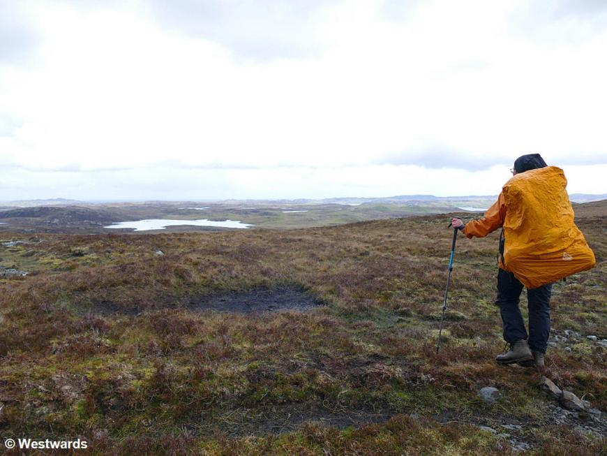 Natascha hiking on Acha Mor, during our 2019 travels to Scotland